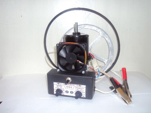 Электропривод для медогонки, 90Вт редукторный (реверс, регулировка оборотов, пуск, стоп, таймер времени, защита двигателя от перегрузки, охлаждение двигателя)